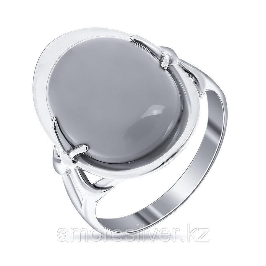 Кольцо Елана серебро с родием, бирюза, овал 211504 размеры - 17,5