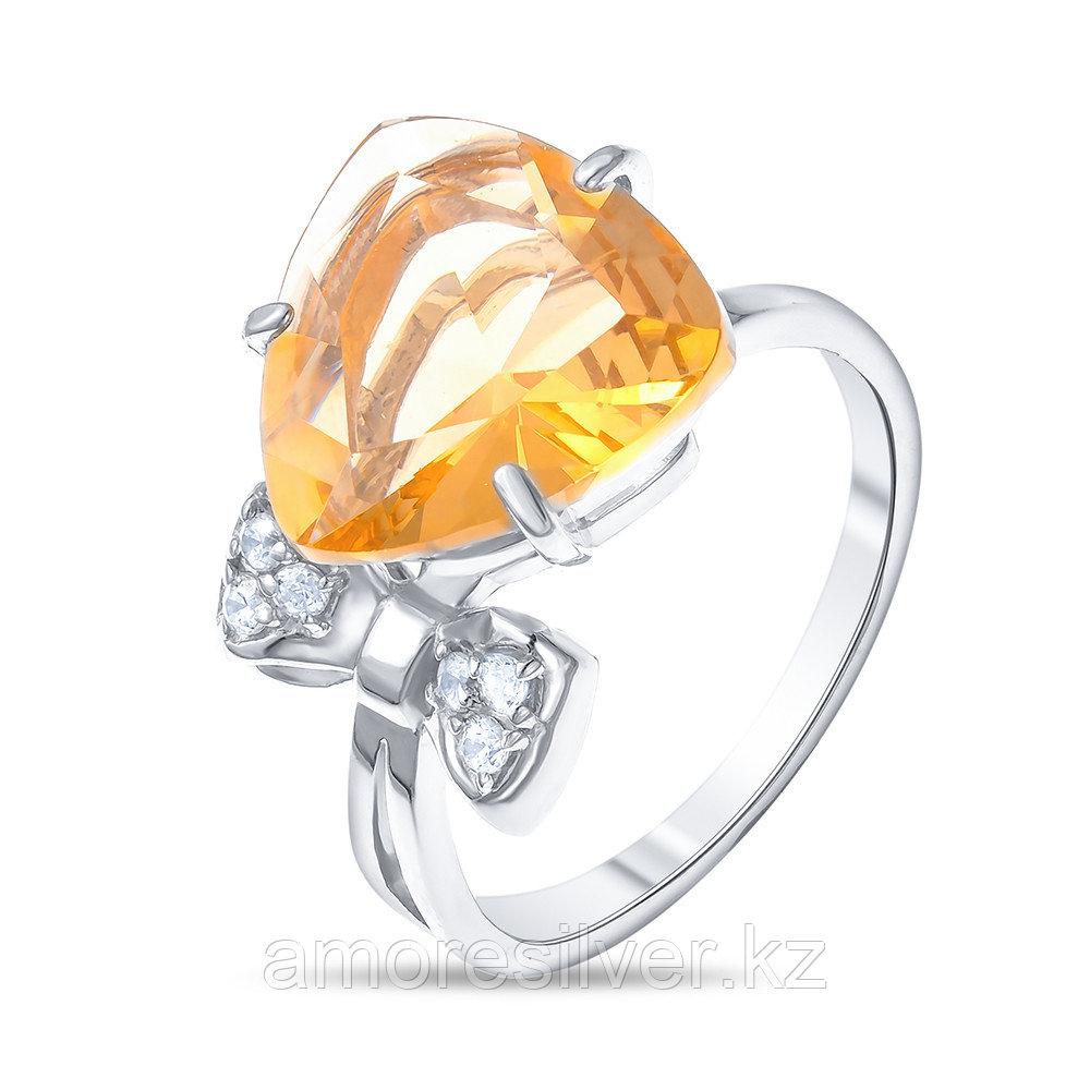 """Кольцо Алмаз-Групп серебро с родием, алпанит фианит, """"каратник"""" 11570294"""
