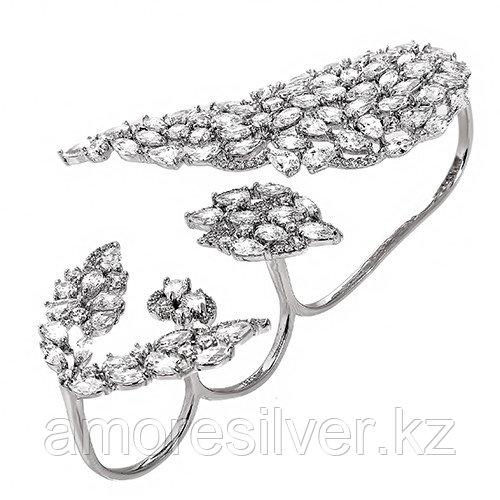 Браслет TEOSA серебро с родием, фианит, флора KIRBS50790