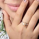 Кольцо TEOSA серебро с родием, жемчуг розовый культ. фианит, символы PRLJR00976-P, фото 2