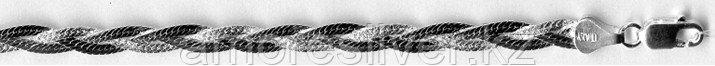 Браслет TEOSA серебро с родием, без вставок, коса, фантазия D35301-18