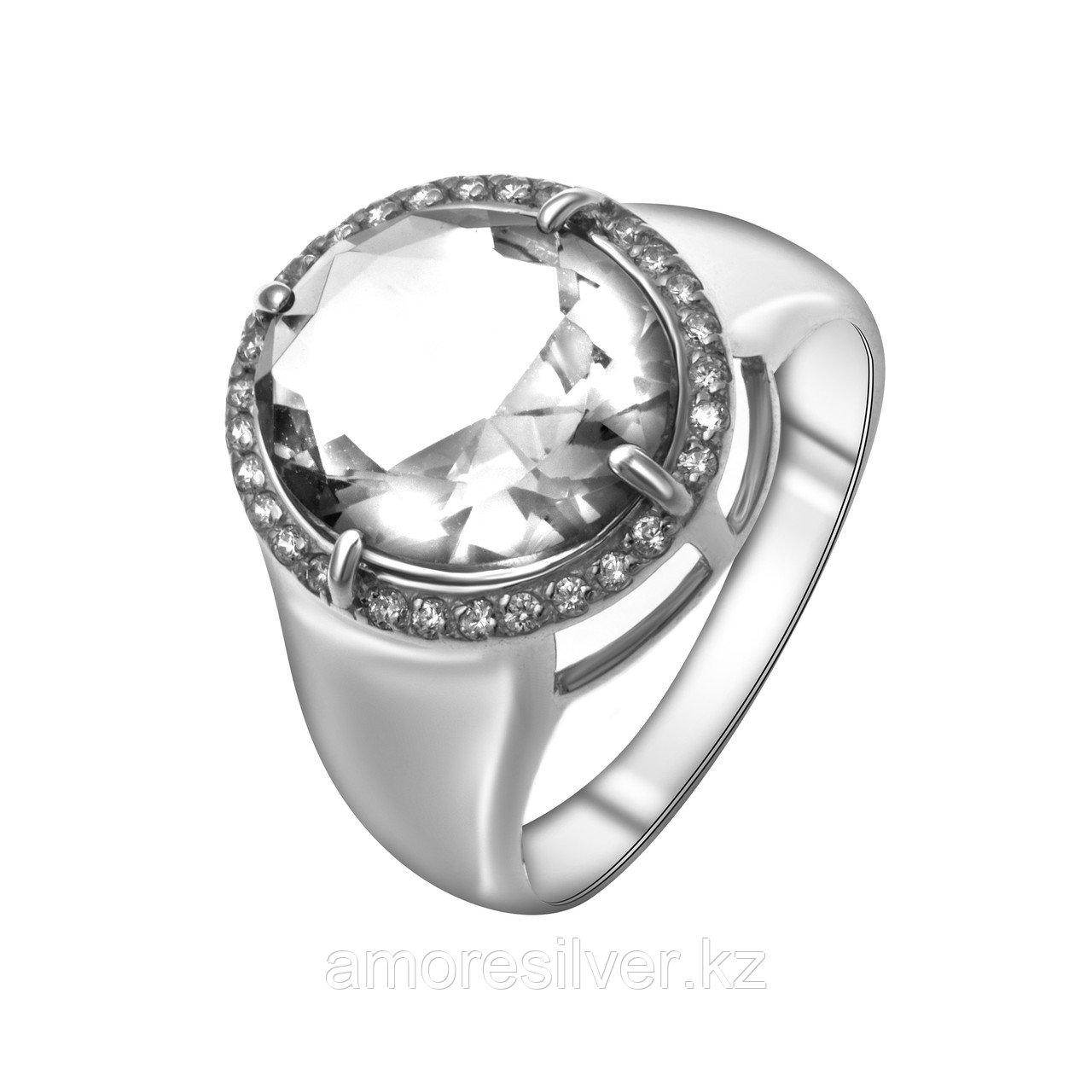 Кольцо TEOSA серебро с родием, фианит синт. 100-1224
