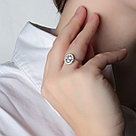 "Кольцо TEOSA серебро с родием, фианит синт., ""halo"" 100-575, фото 2"