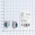 Серьги TEOSA серебро с родием, фианит синт., с английским замком 200-1028-TL, фото 3