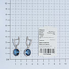 Серьги TEOSA серебро с родием, фианит синт. 200-1224-TL, фото 3