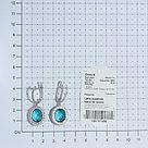 Серьги TEOSA серебро с родием, фианит синт. 200-611-T, фото 3