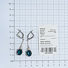 Серьги TEOSA серебро с родием, фианит синт. 200-833-TL, фото 3