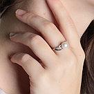 Кольцо TEOSA серебро с родием, жемчуг культ. фианит, ажурное 190-9-669Р размеры - 17,5, фото 2