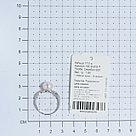 Кольцо TEOSA серебро с родием, жемчуг культ. фианит, ажурное 190-9-819Р размеры - 17 17,5, фото 3