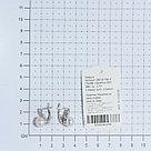 Серьги TEOSA серебро с родием, жемчуг культ. фианит, классика 290-9-708Р, фото 3