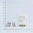 Серьги TEOSA серебро с родием, жемчуг культ. фианит, классика 290-9-819Р, фото 3