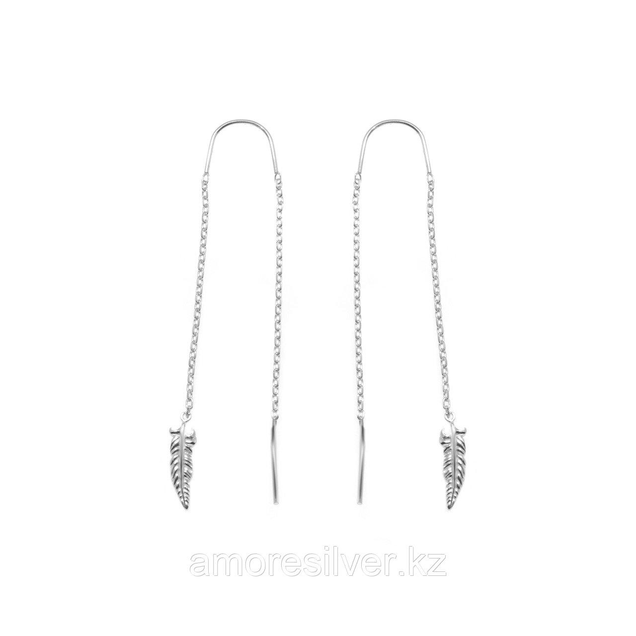Серьги TEOSA серебро с родием, без вставок 0221279-00245