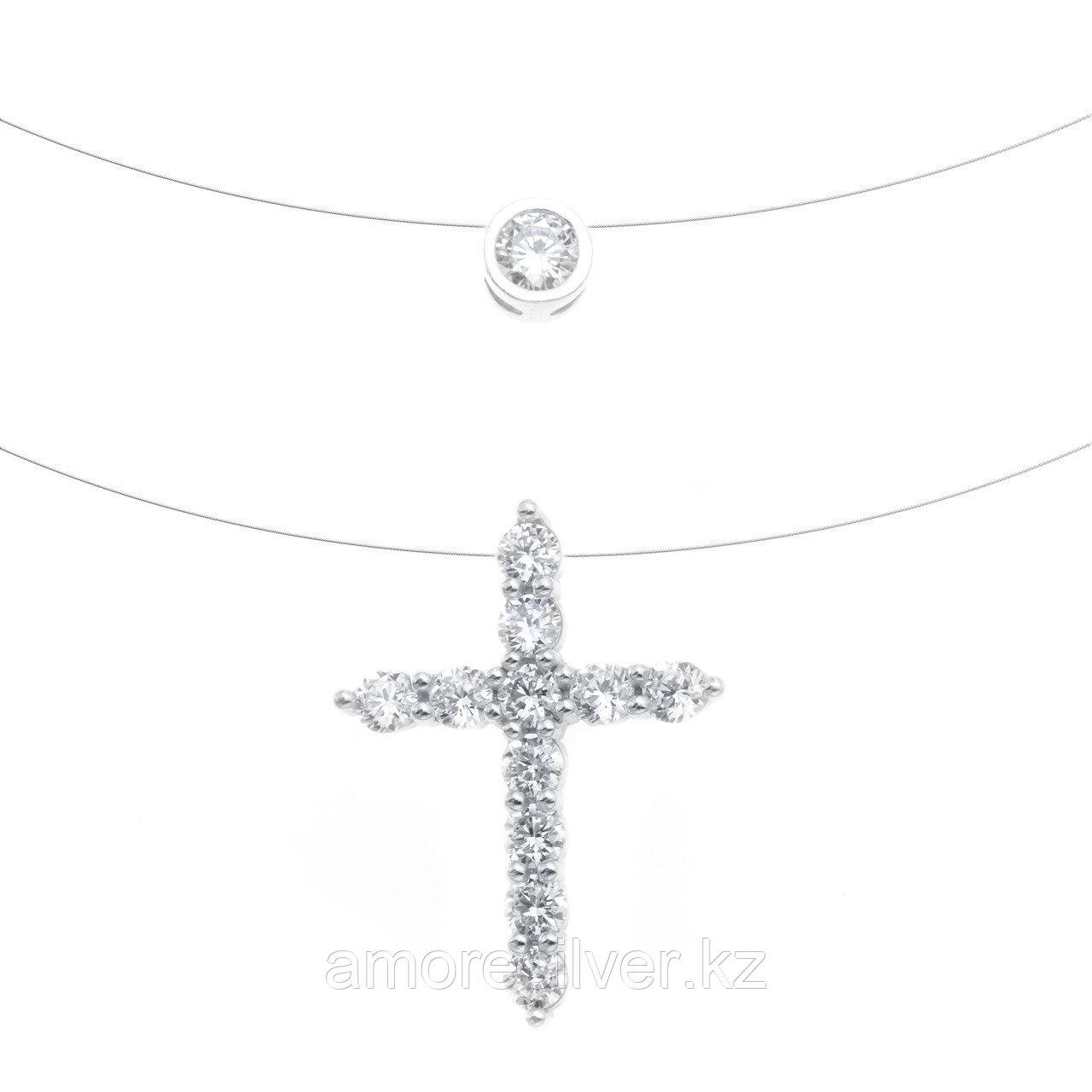 Колье TEOSA серебро с родием, фианит 0300372-10775