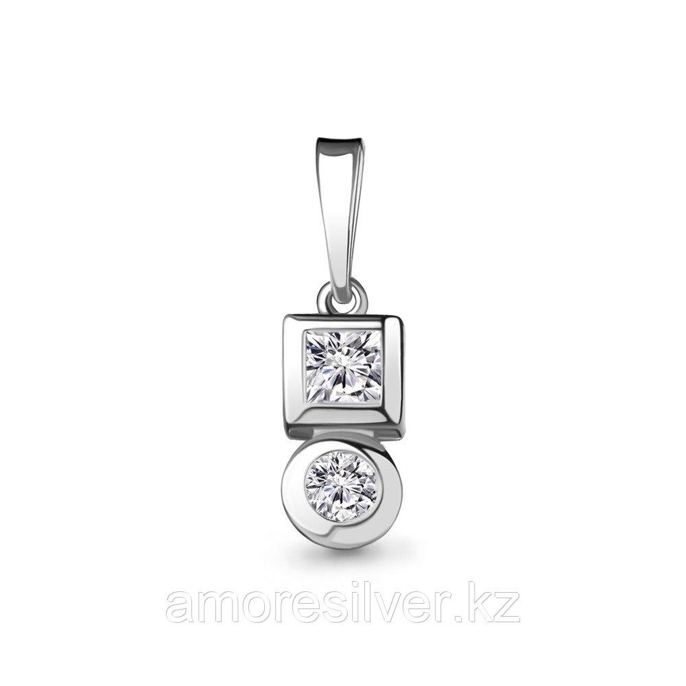 """Подвеска AQUAMARINE серебро с родием, фианит, """"каратник"""" 24445А.5"""