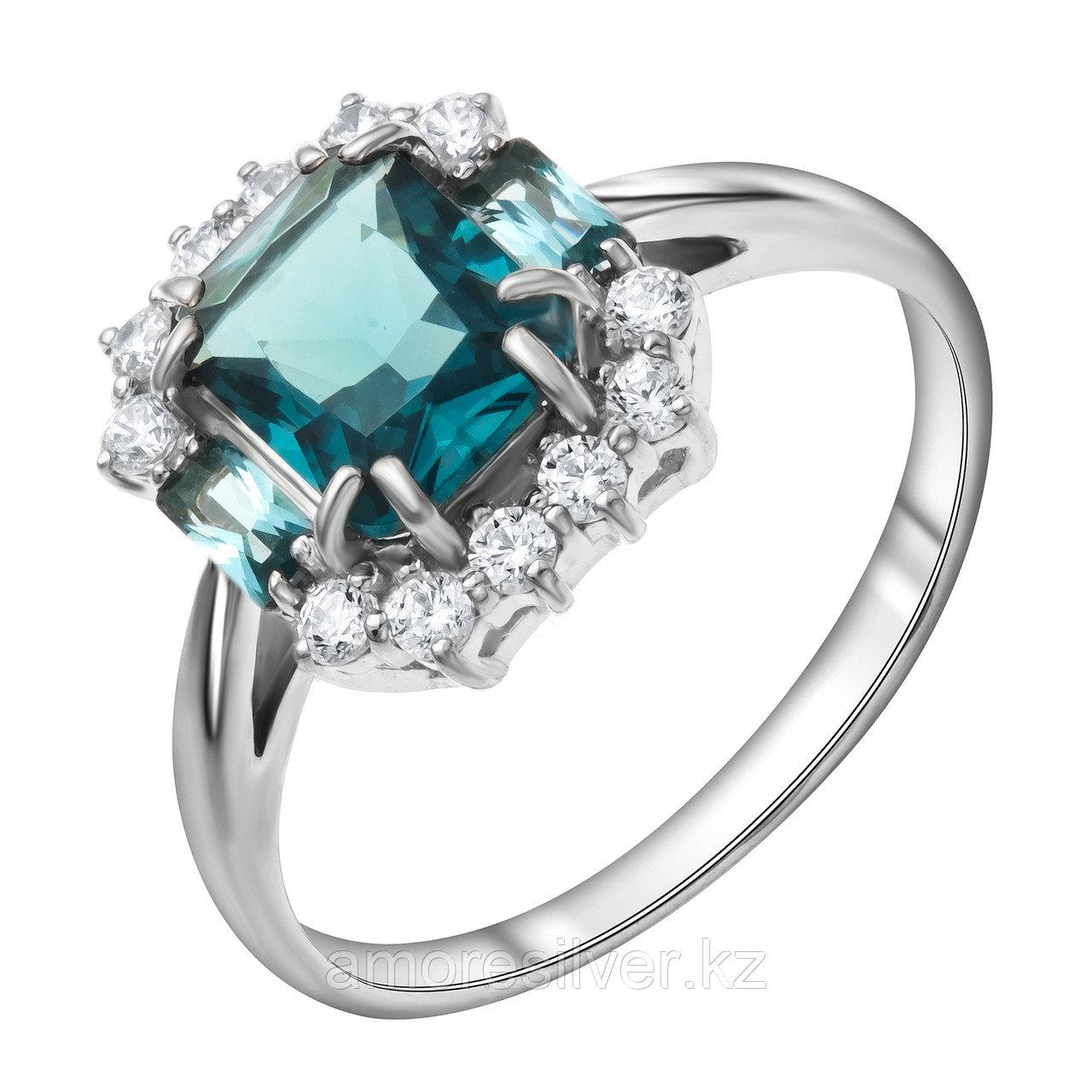 "Кольцо TEOSA серебро с родием, кристалл фианит, ""halo"" 100-1241-TL"