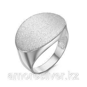 Кольцо Delta серебро с родием, без вставок, круг с211817