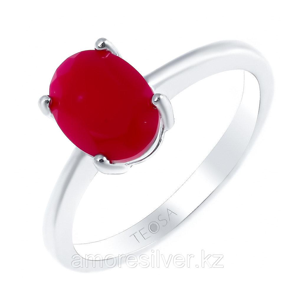 "Кольцо TEOSA серебро с родием, агат красный, ""каратник"" R-DRGR00554-AGR"