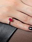 """Кольцо TEOSA серебро с родием, агат красный, """"каратник"""" R-DRGR00554-AGR, фото 2"""