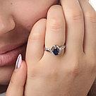 """Кольцо TEOSA серебро с родием, сапфир фианит, """"halo"""" R-DRGR00641-SP, фото 2"""