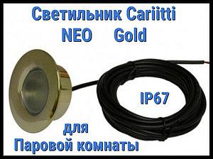 Светильник для паровой комнаты Cariitti Neo (Золото, линза прозрачная, IP67)