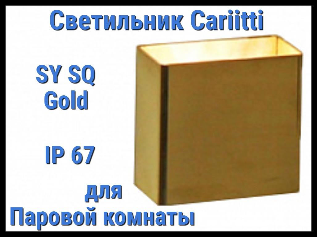 Светильник для паровой комнаты Cariitti SY SQ (Золото, IP67)