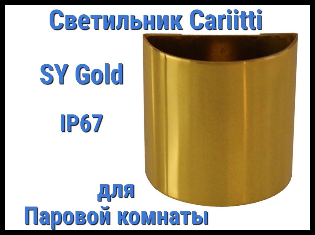 Светильник для паровой комнаты Cariitti SY (Золото, IP67)