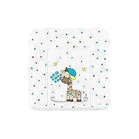 Накладка пеленальная мягкая, ЛЮКС Жираф с цветами (Globex, Россия)