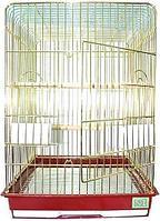 Клетка для птиц № 1 ( 52 * 41 * 78 ) золотая прямоугольная комплект 830