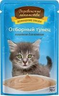 Деревенские лакомства консервы для котят 70 гр тунец паштет