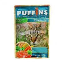 Паффинс консервы для кошек 100 гр желе рыбное ассорти