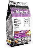 ПРОБаланс Gourmet Diet для кошек сухой 1,8 кг говядина, ягненок