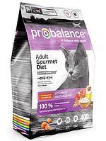 ПРОБаланс Gourmet Diet для кошек сухой 400 гр говядина, ягненок