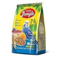 Корм для попугаев Happy Jungle для волнистых 500 гр