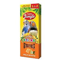 Лакомство для попугаев Happy Jungle Палочки мед, фрукты 3 шт