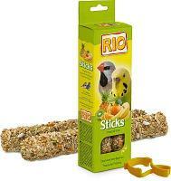 Лакомство для попугаев Рио палочки с тропическими фруктами 2 * 40 гр