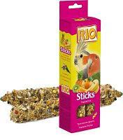 Лакомство для попугаев средних Рио палочки тропические фрукты 2 * 75 гр