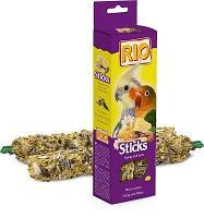 Лакомство для попугаев средних Рио палочки с мёдом и орехами 2 * 75 гр