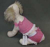 Купальник для собак Beach розовый XL