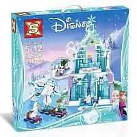 Конструктор Sx 3016 Холодное сердце Ледяной замок Эльзы аналог лего Lego 41148 Принцессы Дисней 848 деталь