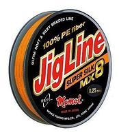 Шнур JigLine Super Silk 0,10мм 7,8кг 100м оранж.