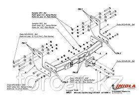 Фаркоп на Mercedes Sprinter 2006-