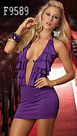 Сексуальное фиолетовое клубное платье