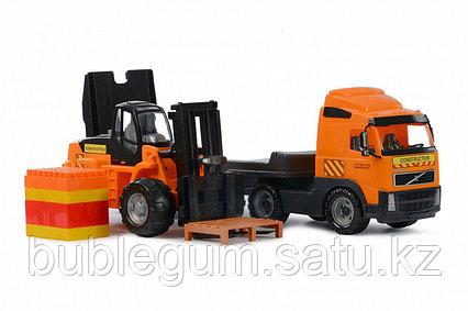 """Volvo"", автомобиль-трейлер + автокар + конструктор ""Супер-Микс"" - 30 элементов на поддон"