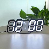 """Часы настенные / настольные """"скелетоны"""" с LED подсветкой LED VST-883 {дата / температура / будильник} (Белый)"""