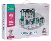 Модульный домик (собери сам), 8 секций. Мини-куколки с питомцами на кухне, в ванной, в столовой