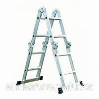 Лестница трансформер шарнирная 2 ступеней