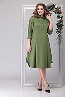 Женское осеннее зеленое большого размера платье Michel chic 2027 зеленый 50р.