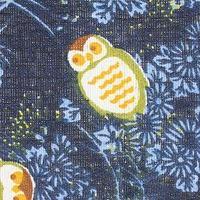 Ткань х/б маленькие совы на синем фоне (комплект из 100 шт.)