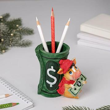 Подставка для карандашей «Долларовый бычок»