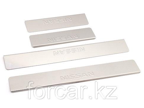 Накладки внутренних порогов NISSAN X-Trail T32 (2014->) (нерж. сталь) (к-т 4 шт.), фото 2
